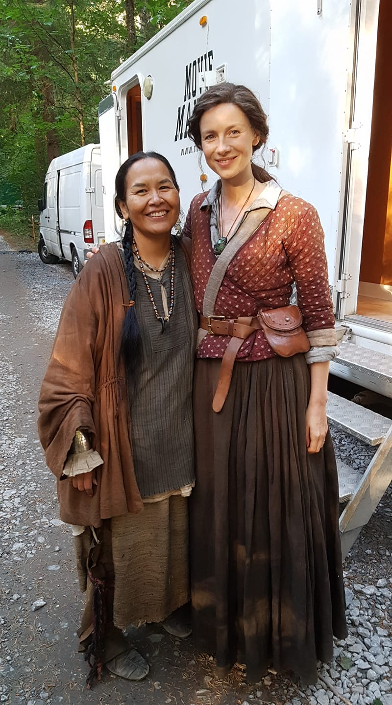 Taninli Wright and Caitriona Balfe