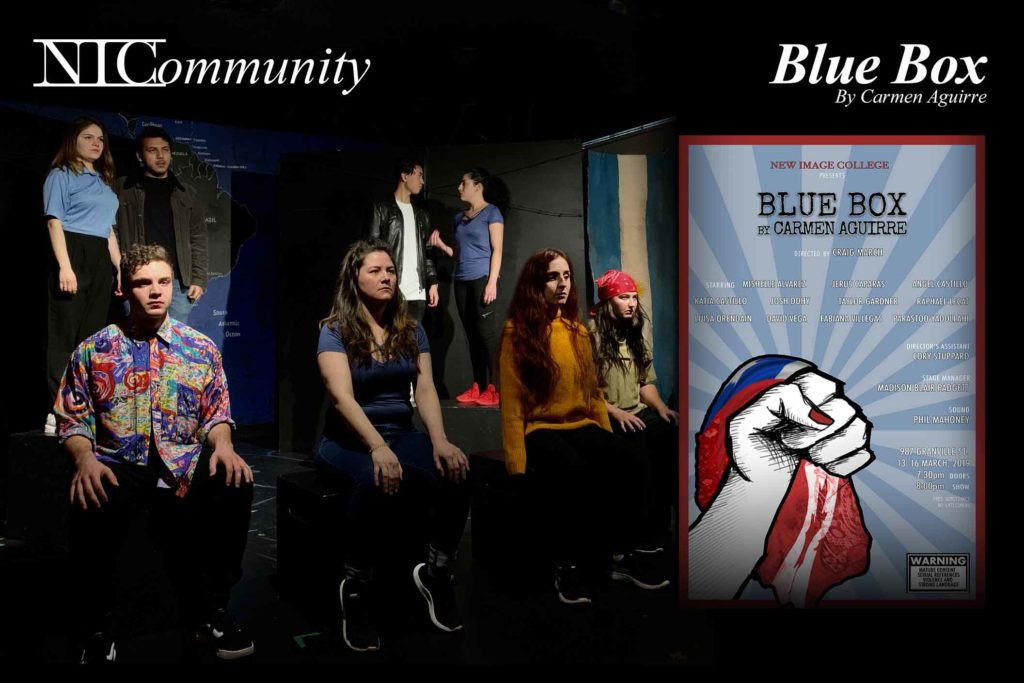"NIC Play – 2nd Year does ""Blue Box"" by Carmen Aguirre! Come watch!"