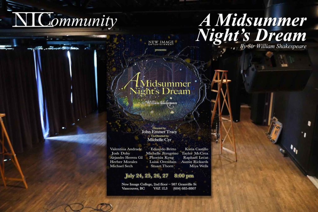 "NIC Play – Presents ""A Midsummer Night's Dream"" by William Shakespeare"